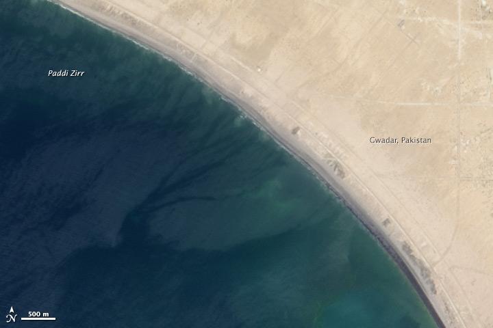 ข้อมูลจากดาวเทียม Landsat-8 บันทึกภาพวันที่ 17 เมษายน 2556