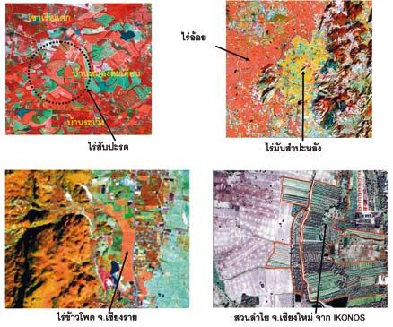 ภาพแสดงตัวอย่างการใช้งานด้านเกษตร