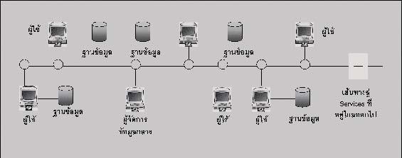 ภาพแสดง The Distributed Computing Platform (DCP) environment ที่มา: ดัดแปลงจาก Zhou and Evans, 1993