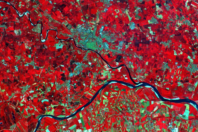 Po Valley, Italy / Released 29/06/2015 9:11 am / Copyright Copernicus data (2015)/ESA