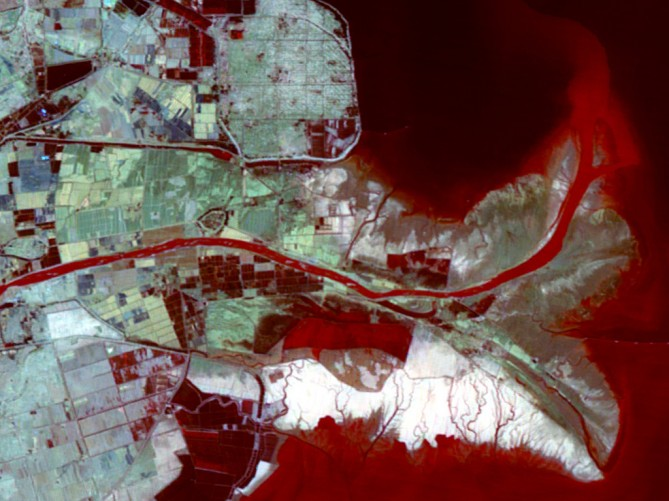 CBERS-04 IRS Image of the Mouth of the Yellow River, China