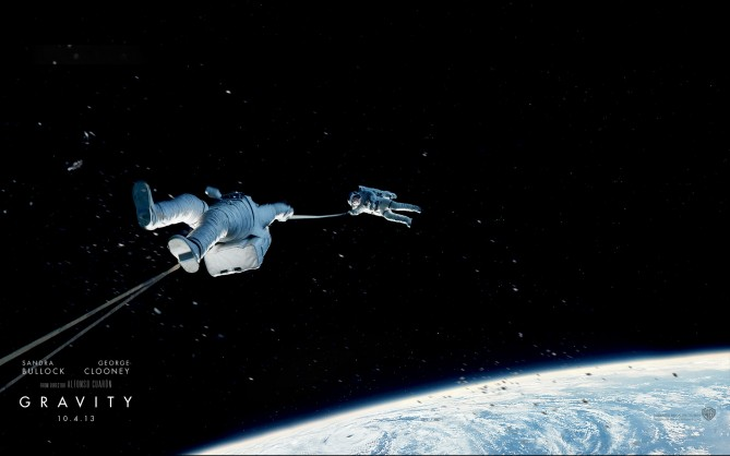 รูปที่ 1.0 ภาพยนตร์เรื่อง Gravity-วิกฤตการณ์แรงโน้มถ่วง [1]